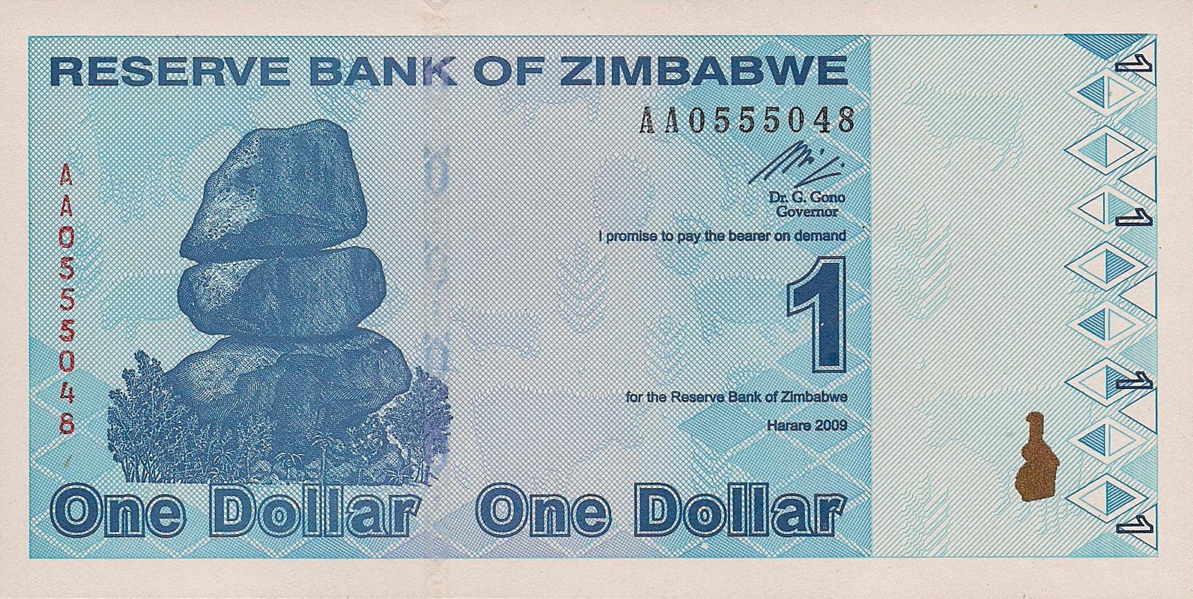 Zimbabwe New Revalued Notes B183a