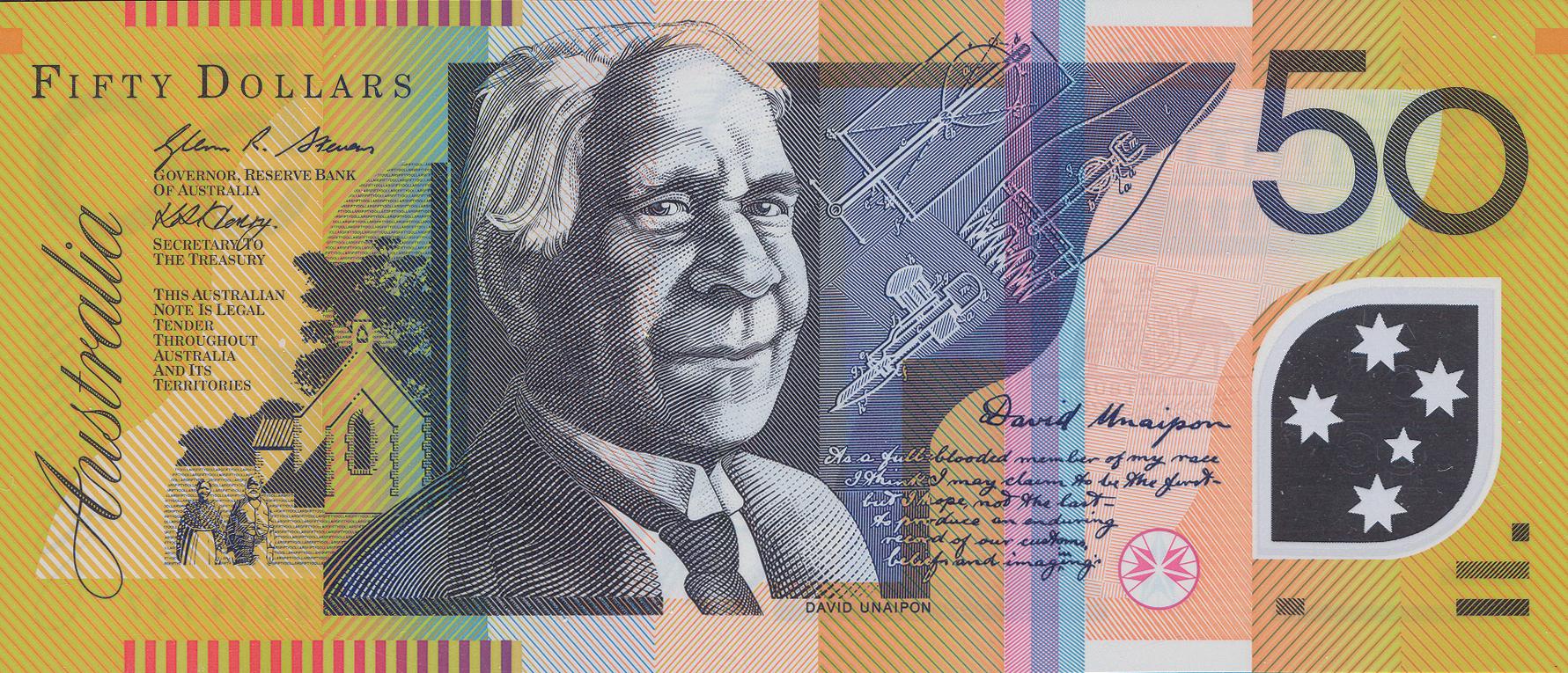 Australia 50 Dollars Banknote Good Condition Australian Banknote Bill