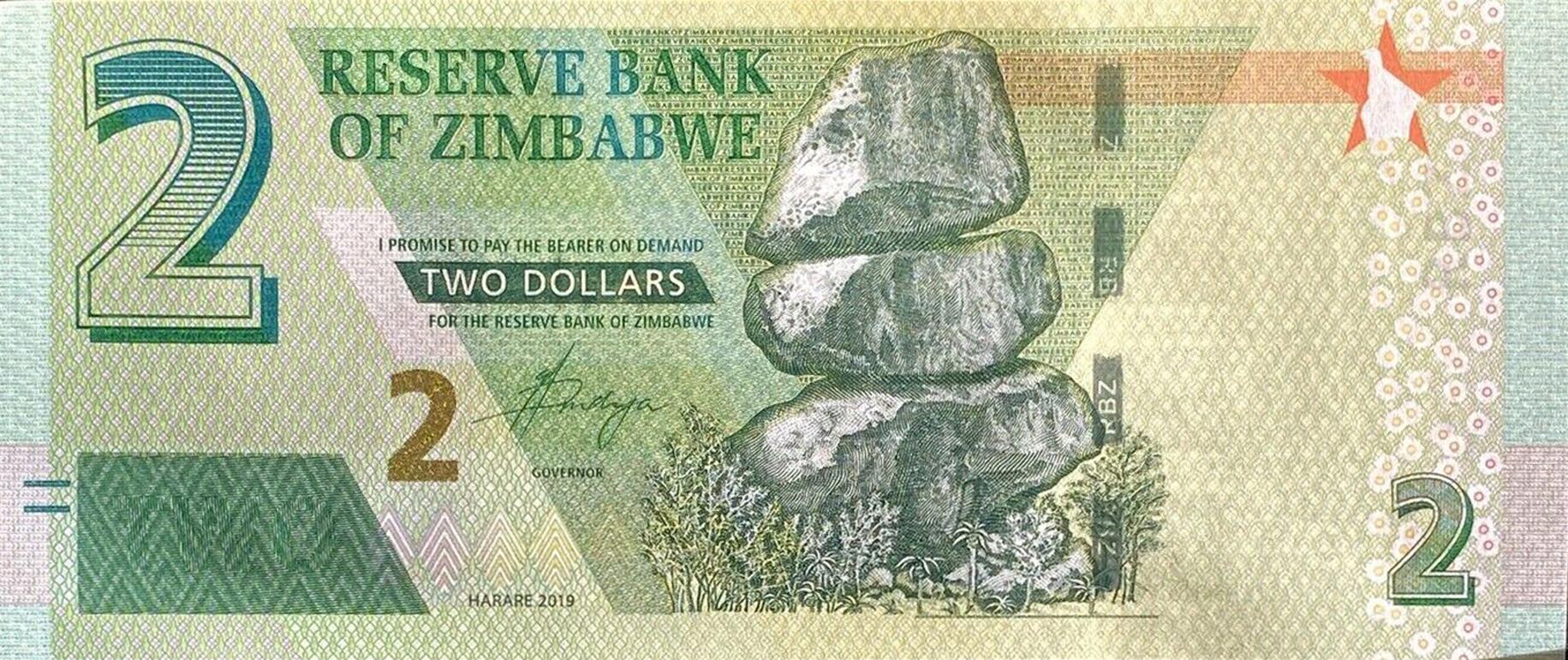 world lot P101a 2019 Zimbabwe 2 dollar bond note UNC Combined Shipping